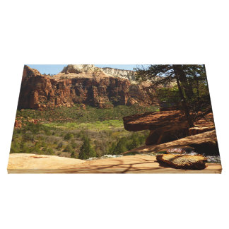 Waterfall at Emerald Pools in Zion National Park Canvas Print