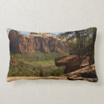 Waterfall at Emerald Pools in Zion National Park Lumbar Pillow