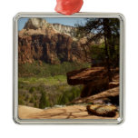 Waterfall at Emerald Pools in Zion National Park Metal Ornament