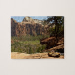 Waterfall at Emerald Pools in Zion National Park Puzzle