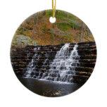 Waterfall at Laurel Hill State Park I Ceramic Ornament