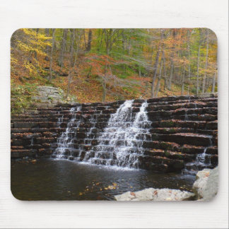 Waterfall at Laurel Hill State Park I Mouse Pad