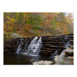 Waterfall at Laurel Hill State Park I Poster
