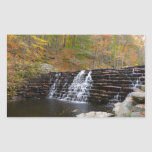 Waterfall at Laurel Hill State Park I Rectangular Sticker