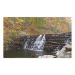 Waterfall at Laurel Hill State Park I Rectangular Sticker
