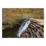 Waterfall at Laurel Hill State Park II Autumn Card