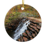 Waterfall at Laurel Hill State Park II Ceramic Ornament