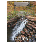 Waterfall at Laurel Hill State Park II Clipboard