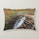 Waterfall at Laurel Hill State Park II Decorative Pillow