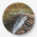 Waterfall at Laurel Hill State Park II Paper Plate