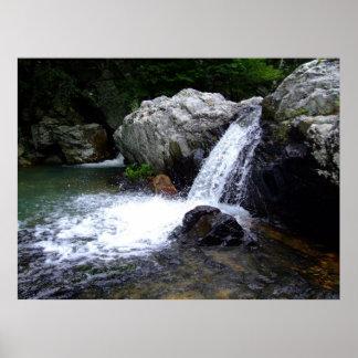 Waterfall at Little Missouri Falls Poster