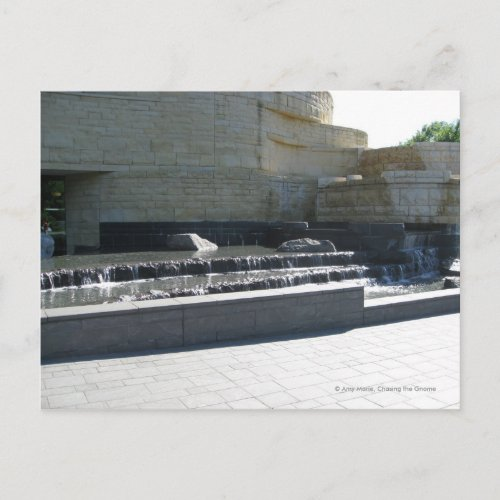 Waterfall at Museum postcard