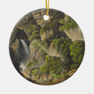 Waterfall at Shanklin, from 'The Isle of Wight Ill Ceramic Ornament