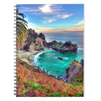 Waterfall at the beach notebook