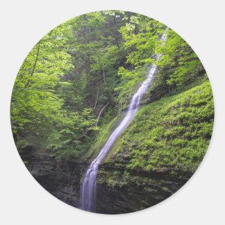 Waterfall at Watkins Glen, NY Classic Round Sticker