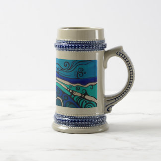 waterfall beer stein