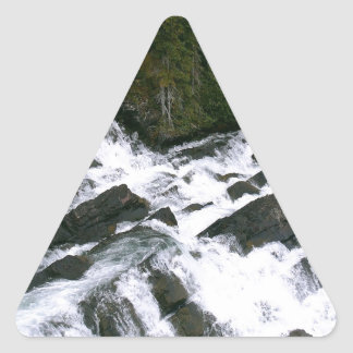 Waterfall Before The Falls Triangle Sticker