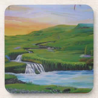 Waterfall Beverage Coasters