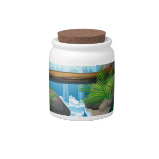 Waterfall book candy jars