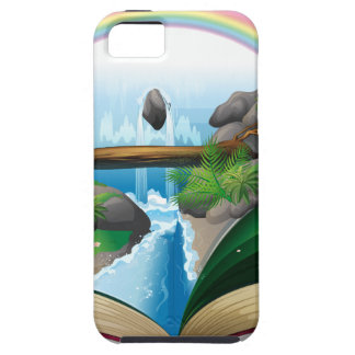 Waterfall book iPhone 5 cases