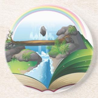Waterfall book coasters