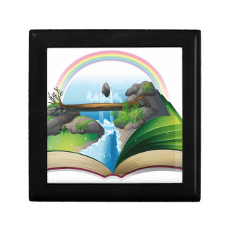 Waterfall book gift boxes