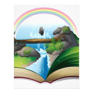 Waterfall book letterhead
