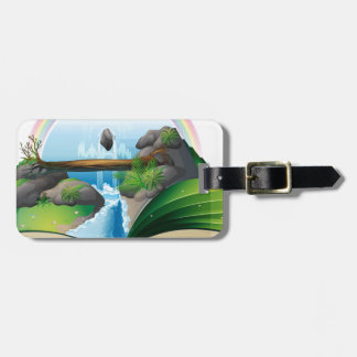 Waterfall book tag for luggage