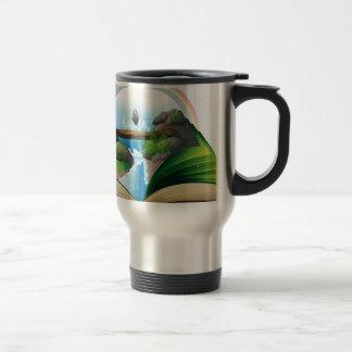 Waterfall book 15 oz stainless steel travel mug