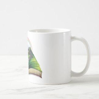 Waterfall book classic white coffee mug