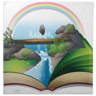 Waterfall book cloth napkins