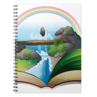 Waterfall book notebook