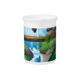 Waterfall book drink pitcher