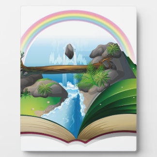 Waterfall book plaques
