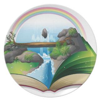 Waterfall book plates
