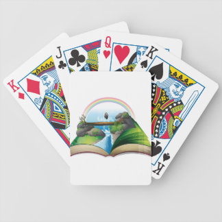 Waterfall book bicycle playing cards