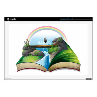 Waterfall book skin for laptop