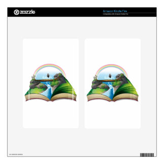 Waterfall book skin for kindle fire