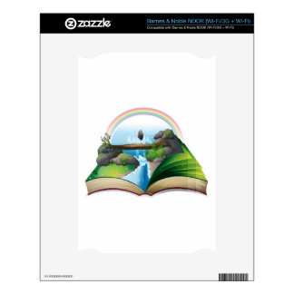 Waterfall book decals for NOOK