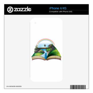 Waterfall book iPhone 4S decal