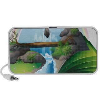Waterfall book speaker
