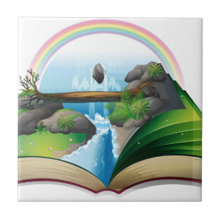 Waterfall book small square tile