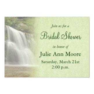 Waterfall Bridal Shower Card