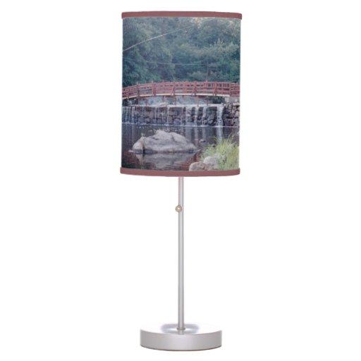 Waterfall Bridge Table Lamp Zazzle