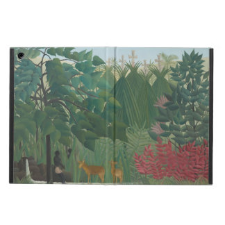 Waterfall by Henri Rousseau, Vintage Impressionism iPad Air Cases