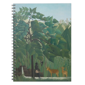 Waterfall by Henri Rousseau, Vintage Impressionism Notebook