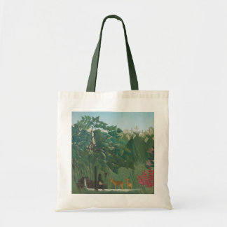 Waterfall by Henri Rousseau, Vintage Impressionism Tote Bag