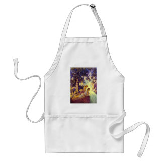 Waterfall - by Maxfield Parrish Adult Apron