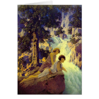 """Waterfall"", by Maxfield Parrish Card"
