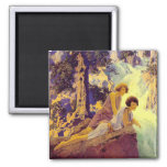 Waterfall - by Maxfield Parrish Fridge Magnet